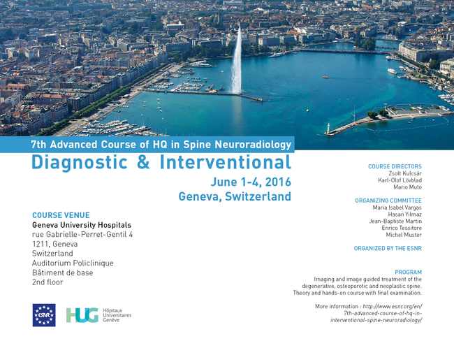 7th Advanced Course of HQ in Interventional Spine Neuroradiology
