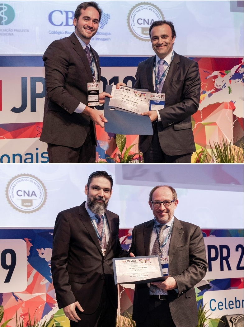 28/05/2019 : Dr Pedro Vilela and Prof Àlex Rovira have been awarded Honorary Membership of the Radiological and Diagnostic Imaging Society of Sao Paulo (SPR)