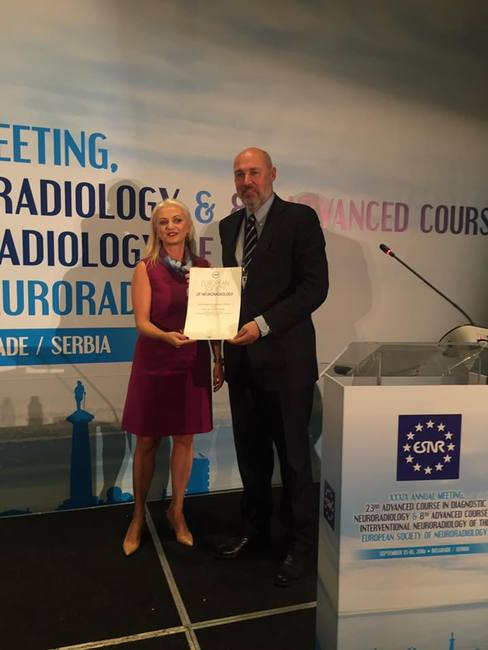18/09/2016 : Marco Leonardi (Bologna, Italy) and Paul M. Parizel (Antwerp, Belgium) awarded Honorary Member at ESNR Annual Meeting in Belgrade