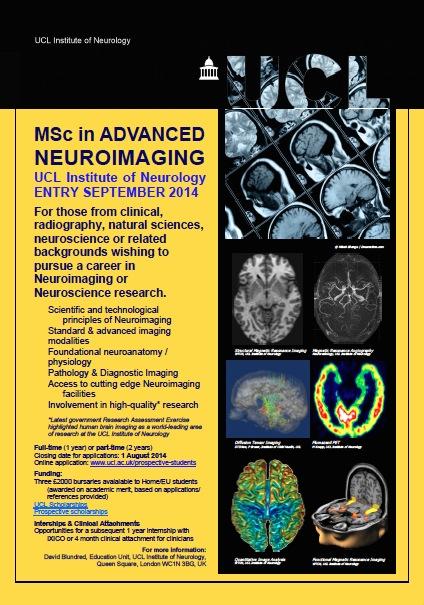 -- : MSc in Advanced Neuroimaging UCL Institute of Neurology, London, UK
