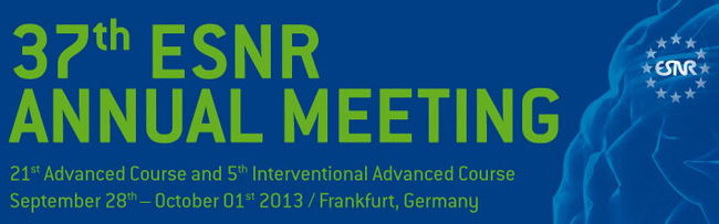 -- : Registration for the 37th ESNR Annual Meeting in Frankfurt 2013 is now open