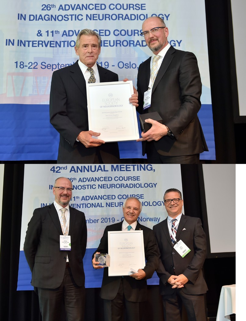 02/12/2019 : Prof. Victor Haughton and Prof. E. Turgut Tali awarded Honorary Membership of ESNR 2019