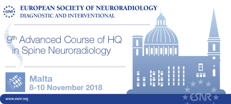 08/03/2018 : Registration for the 9th Advanced Course of Higher Qualification in Spine Neuroradiology is now open!