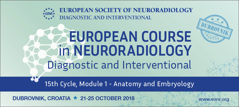 31/05/2018 : Registration for the ECNR 15th Cycle Module 1 on Anatomy and Embryology is now open!