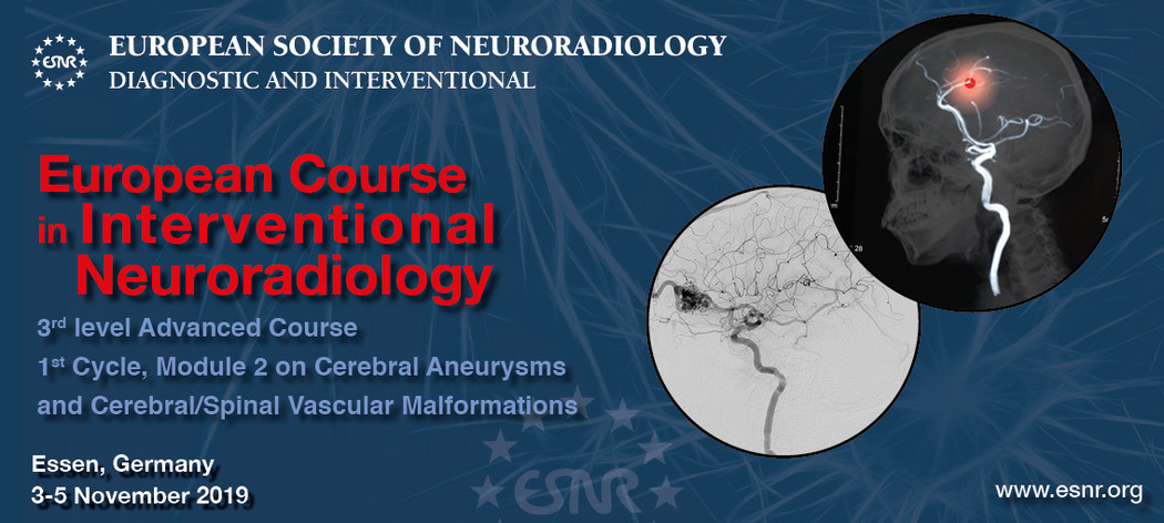 13/05/2019 : Registration for the European Course in Interventional Neuroradiology 1st Cycle Module 2 is now open!