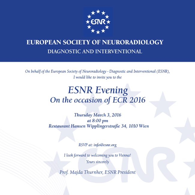 -- : Save the date ! March 3, 2016 ESNR evening @ ECR 2016